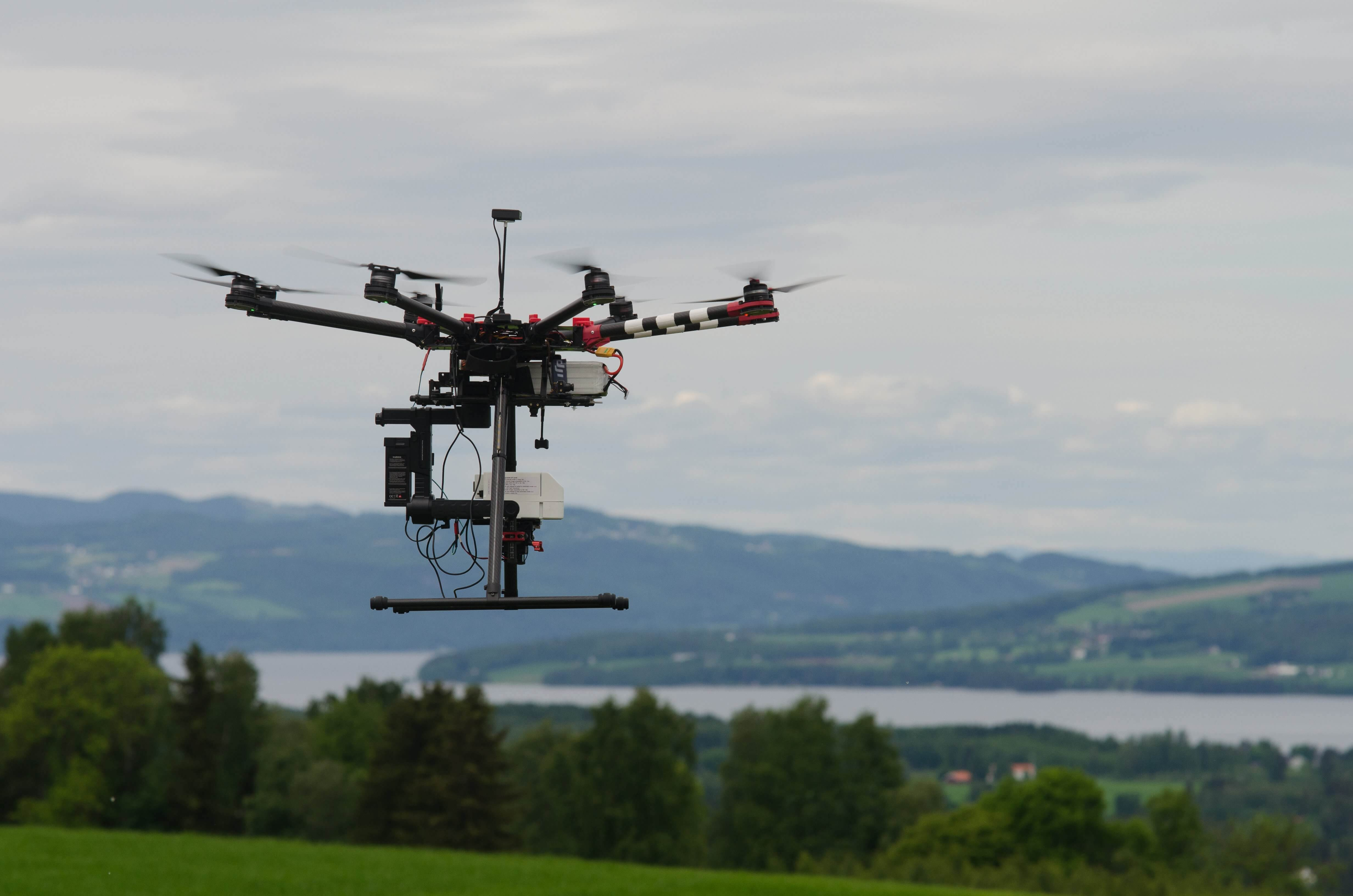 UAV with hyperspectral camera