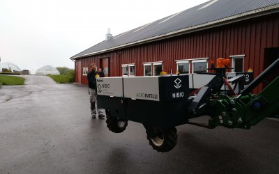 New Robot tractor arrives at Apelsvoll