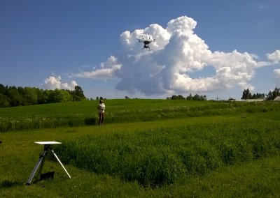 Launching a UAV with a hyperspectral camera