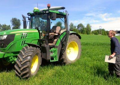 Yara N sensor on a tractor