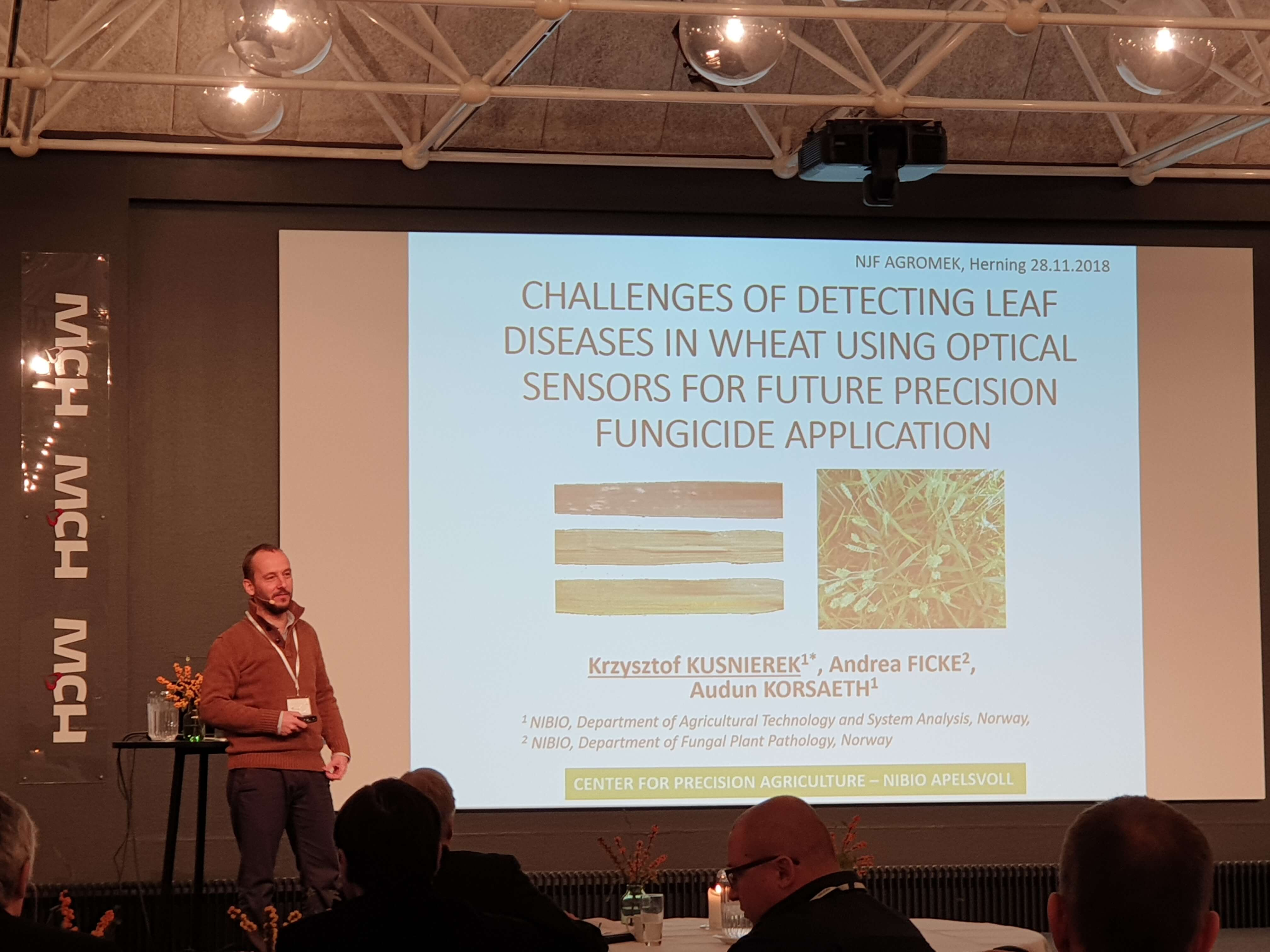 Krzysztof Kusnierek presentation on future precision fungicide application